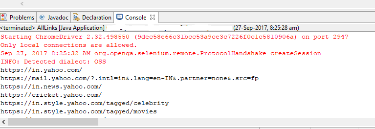 How to handle Links and Images using Selenium Webdriver